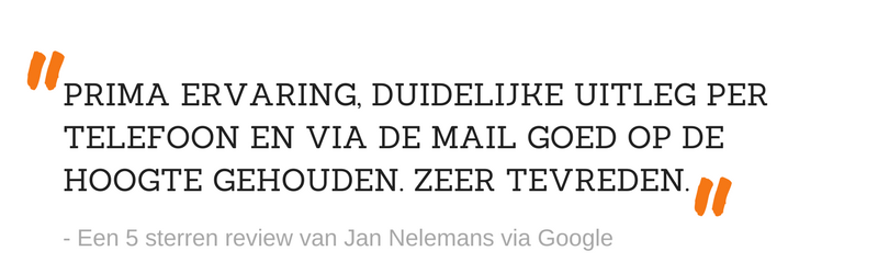 5 sterren review Jan Nelemans Google